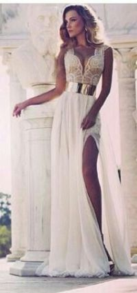 1000+ images about greek dresses on Pinterest | Coral prom ...