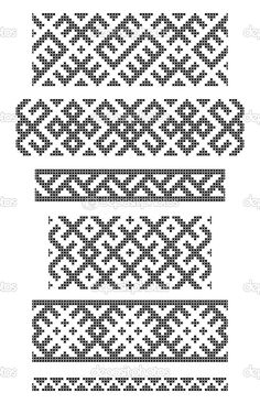 Latvian embroidery patterns, typical for folk costume