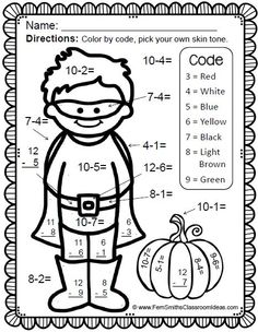 Color By Numbers St. Patrick's Day Math Addition and