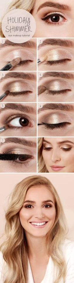 Glitters and gold are winter makeup looks that you can rock all year!