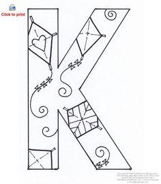 Printable Alphabet Letter K Template! Alphabet Letter K