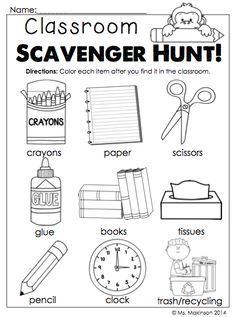 This is a checklist for students to use outside on a fall