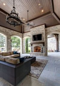 1000+ ideas about Porch Fireplace on Pinterest | Screened ...