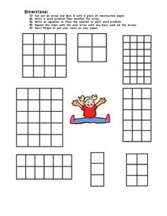 Multiplication Array Matching Game