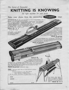 1000+ images about Vintage Knitting Machine Adverts on