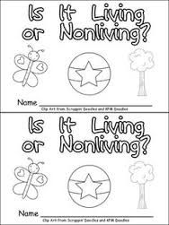 living and nonliving things worksheets for first grade