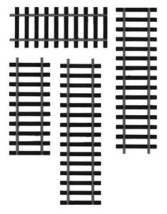Train track pattern. Use the printable outline for crafts