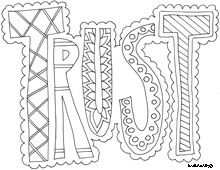 Word coloring pages. Free. I love this idea for my kids to