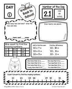 How to use a number line in first grade. Number sense