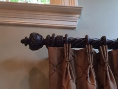 Allen Roth 2 Pack Sienna Wood Curtain Rod Brackets Living Room