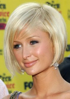 Paris Hilton's Chin Length Bob With Flip Thinking About Getting