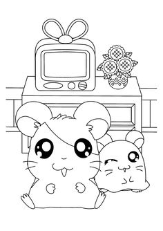 hamtaro! I need to draw this and put it in my room for
