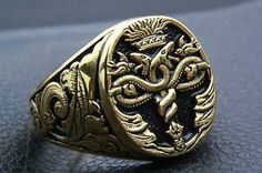 Lion head ring Lion ring for man Ring for man Animals ring Bikers ring Silver ring for man