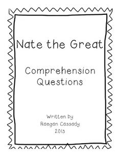 Nate the Great and the Snowy Trail Comprehension Pack