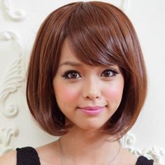 Cute Messy Bob Hairstyle For Asian Women Eye GLASSES Pinterest