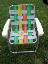 webbing for aluminum folding chairs bedside potty chair pair retro vtg vintage lawn webbed web strap patio lounge | ...