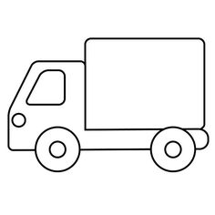 Truck color page, transportation coloring pages, color