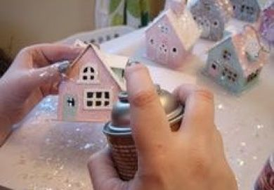 Christmas Houses To Paint At Michaels
