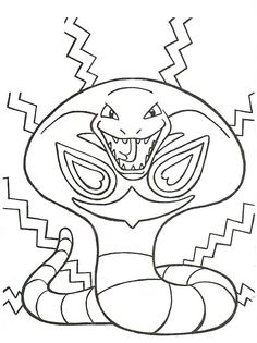 A wonderful coloring page of Pokemon with Ash, Brock and
