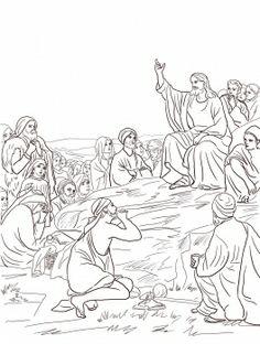 Clip Art of Sermon On the Plain