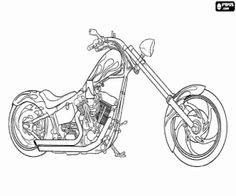 Harley Motorcycle Engine Coloring Book, Harley, Free