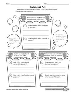 This 1 page worksheet is a quick read with scenarios about