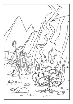Day 1 (Acts 9) coloring sheet. Extra activity for early