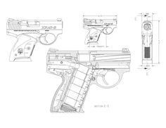 Luger P08 blueprint Loading that magazine is a pain! Get