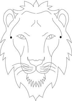 Lion mask printable coloring page for kids- **draw ur own