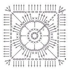 Solid Granny Square esquema gratis pattern free
