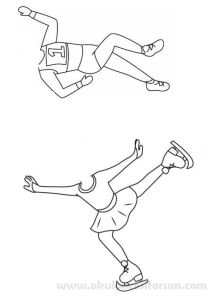 Running girl pattern. Use the printable outline for crafts