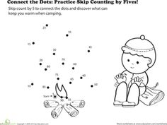 1st grade, 2nd grade Math Worksheets: Patterns of 2, 5