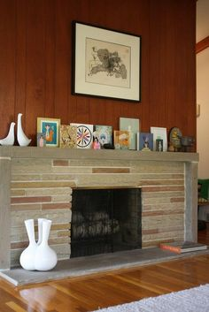 1000 images about Midcentury modern fireplace on