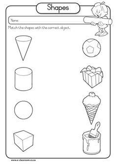 Shape color page, education school coloring pages, color