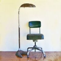 Industrial Rolling Shop Stool - Upcycled Side Table or ...