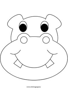Rhino mask templates including a coloring page version of