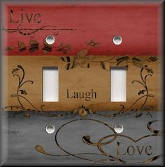 Live Laugh Love Home Decor Custom Light Switch Plate Cover