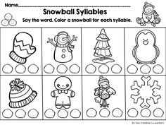 Syllable, Worksheets and Fish on Pinterest