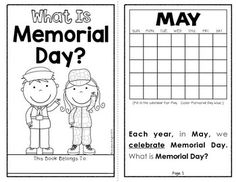 FREE Memorial Day emergent reader and ideas for Memorial