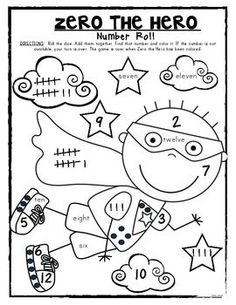 Zero the Hero Classroom Counting Fun! This packet includes