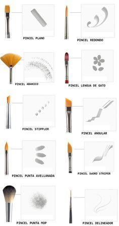How to use different nail art brushes. Some I didn't know