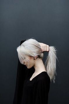 love this white ash blonde wish my clients wouldn t be afraid of ash grey blonde it s so