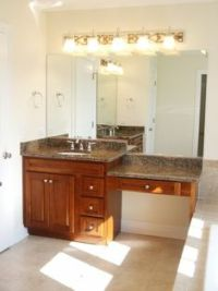 60 inch bathroom vanity single sink with makeup area