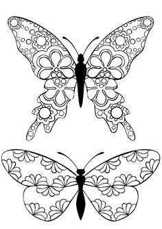 Butterfly pattern. Use the printable outline for crafts