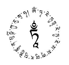 White Tara Mantra circle: