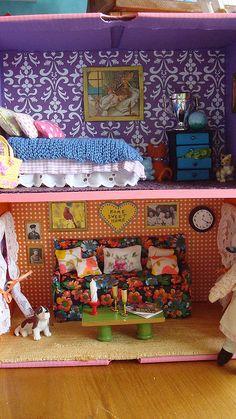 The Homemade Dollhouse All Sorts Of Wonderful Ideas! Dollhouse