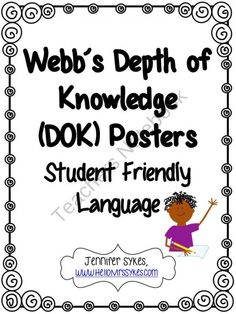 It's Elementary!: Webb's Depth of Knowledge & DOK Posters