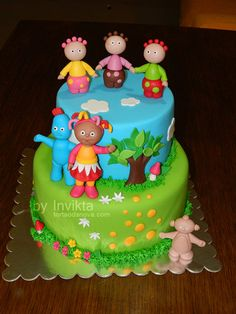 Mossy's Masterpiece In The Night Garden Cake With The Ninky Nonk