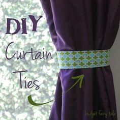 How To Make Curtain Tie Backs Make Curtains Fabrics And Tutorials