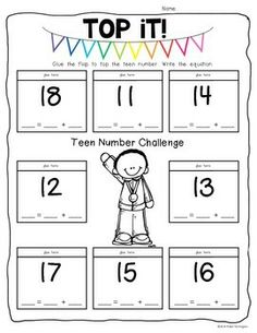 Teen Numbers Workpages